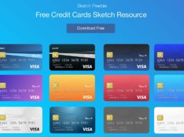 Free Credit Cards Vector UI Sketch Template