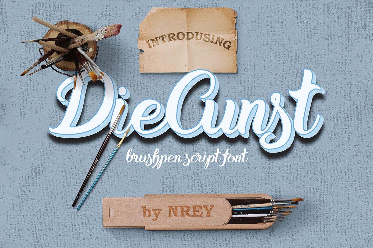 Free DieCunst Script Font