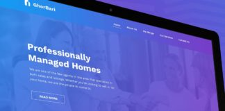 Free GhorBari Real Estate Web PSD Template