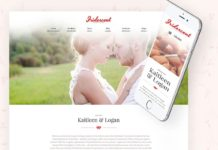 Iridescent Marriage Wedding WordPress Theme