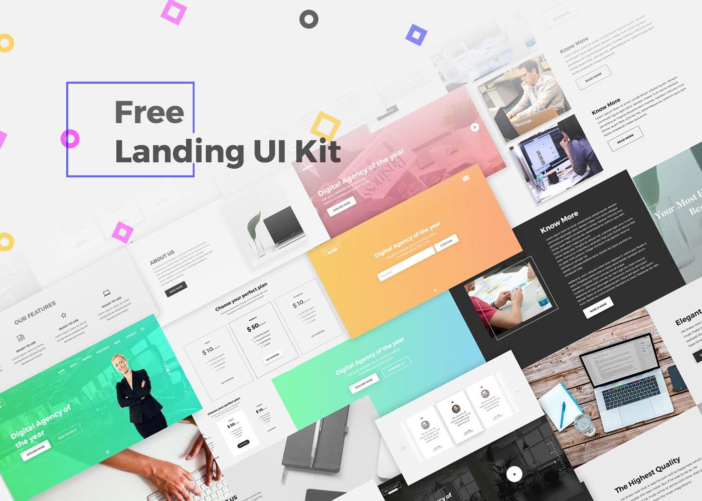 free landing ui kit creativetacos