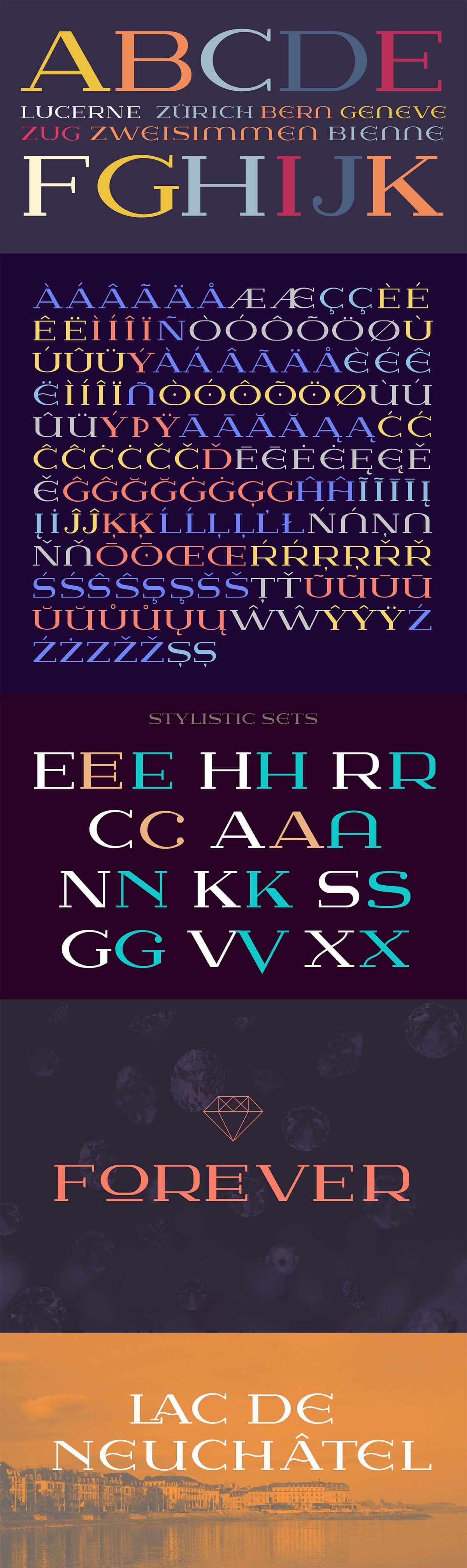 Free Lausanne Serif Font