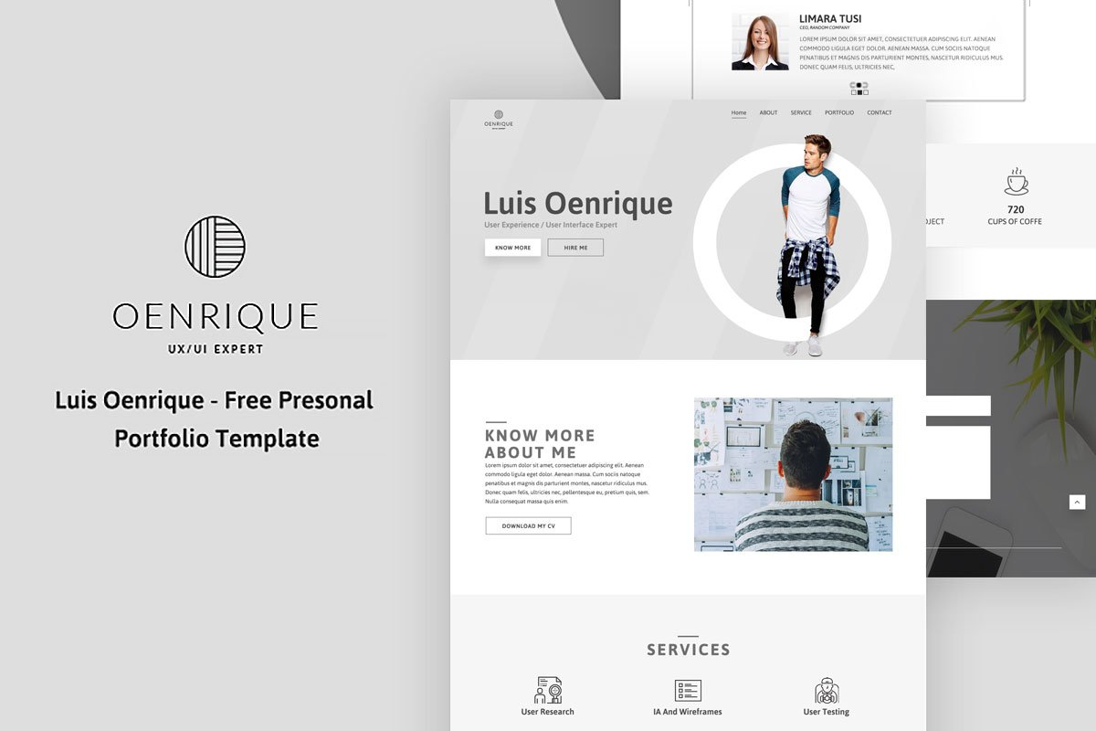 Resume Template Free Online%0A Company Portfolio Template Word Contact List Template Free Luis Oenrique  Personal Portfolio Template Company Portfolio Templatehtml