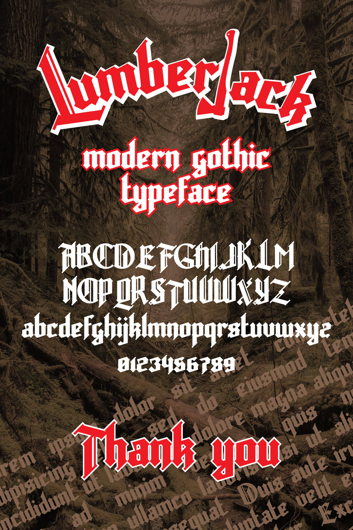Free Lumberjack Gothic Font