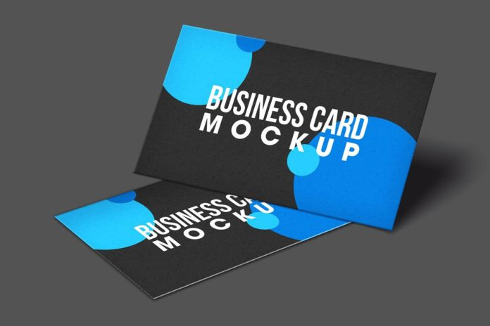 Free Modern Business Card Mockup Vol. 2
