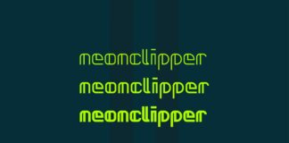 Free Neonclipper Art Deco Typeface