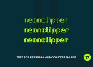 Free Neonclipper Art Deco Typeface