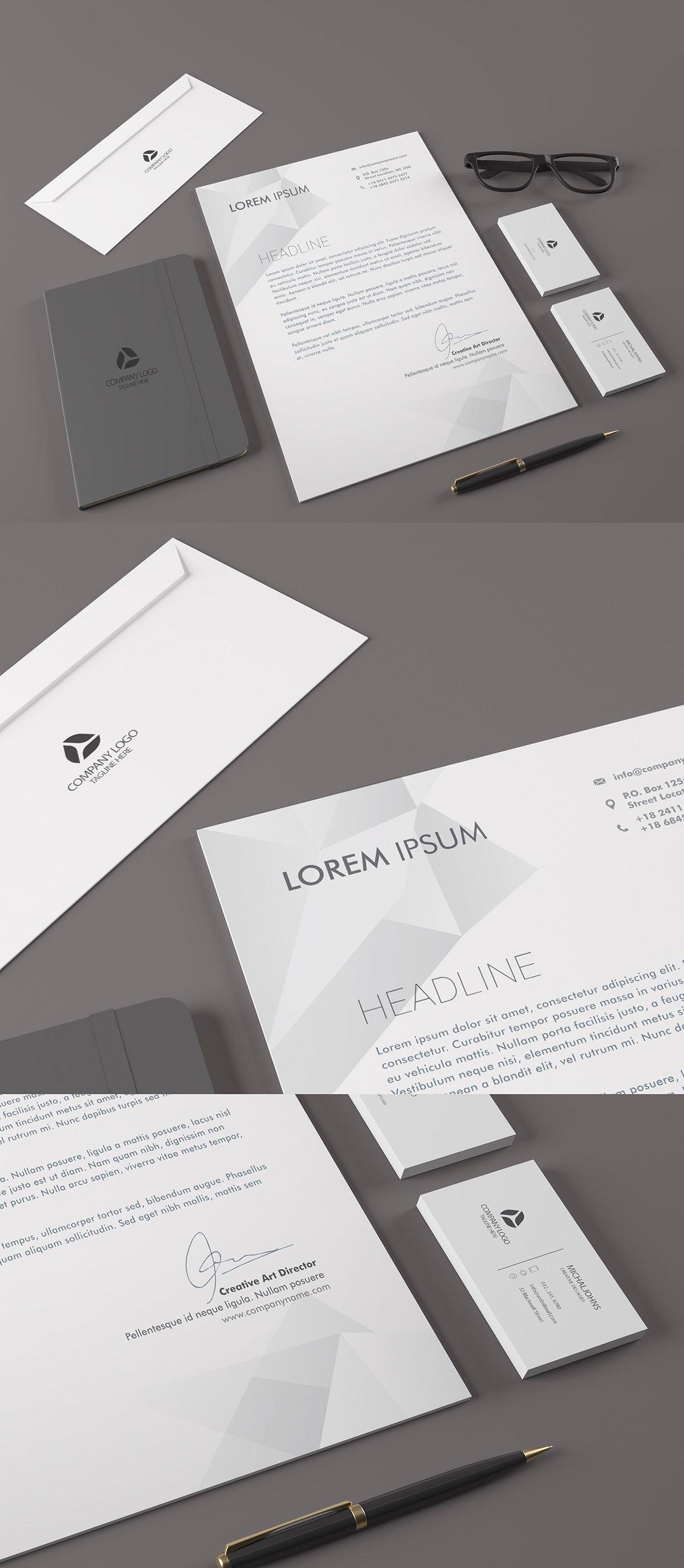 Free Realistic Stationary Branding Identity Mockup
