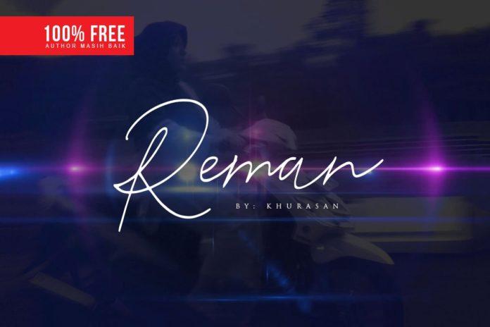 Free Reman Script Font