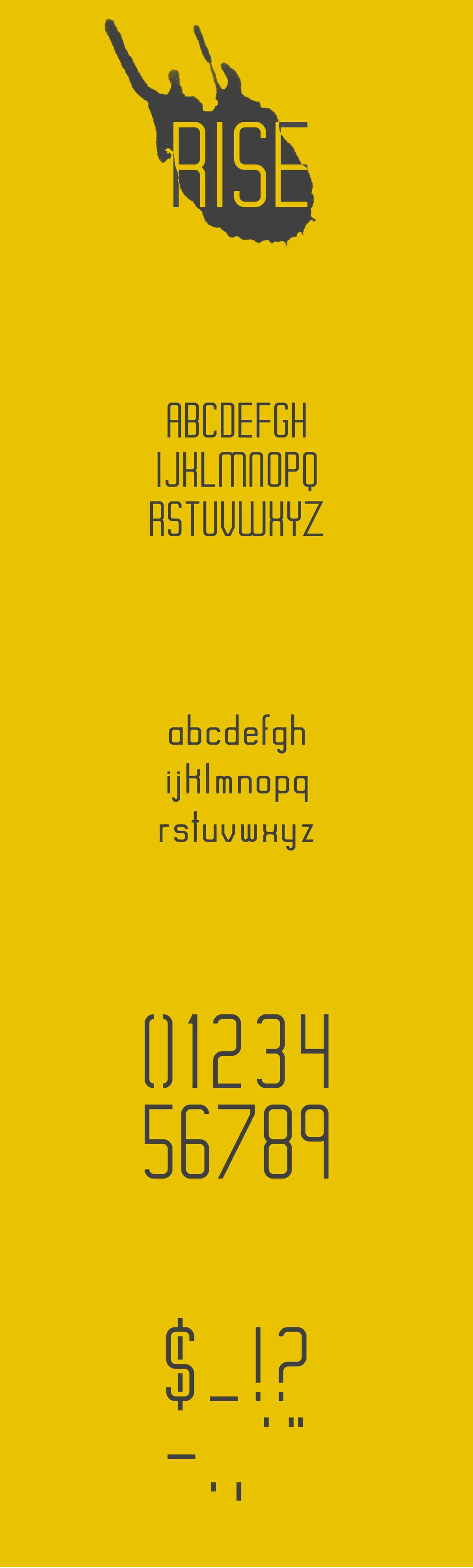 Free Rise Display Font