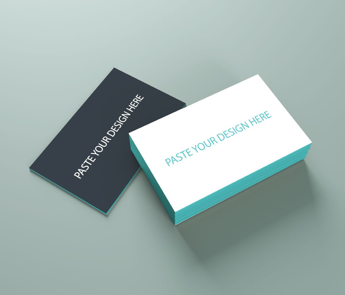 Free Simple Business Card Mockup