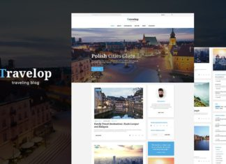 Free Travelop Traveler WordPress Theme