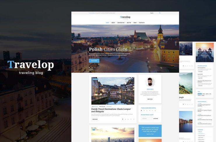 Free Travelop Traveler WordPress Theme