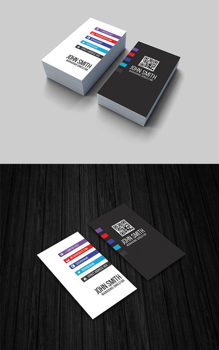 Free vertical business card template creativetacos free vertical business card template is a clean eye catching black wajeb Choice Image