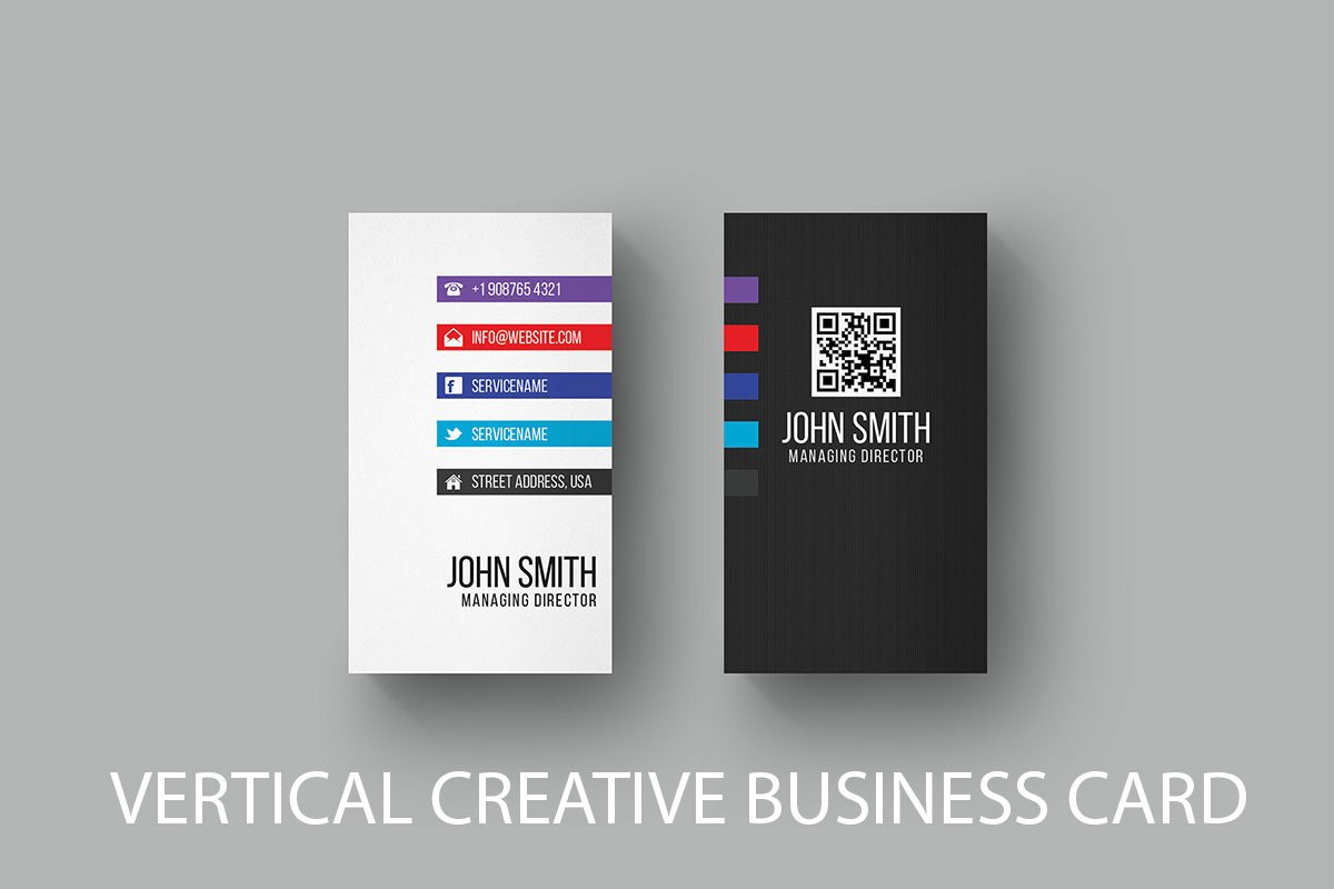 Free vertical business card template creativetacos free vertical business card template accmission Images