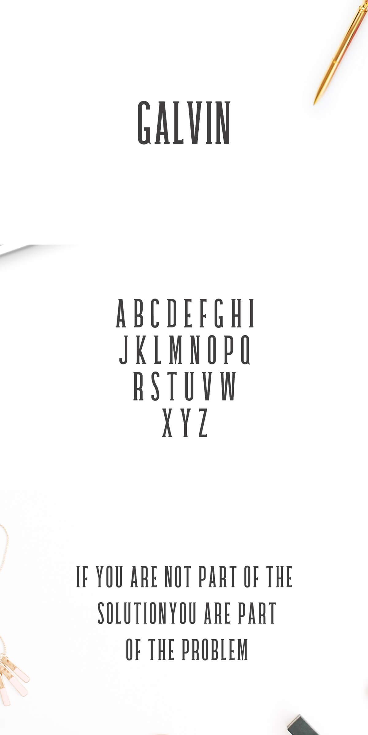 Free Galvin Slab Serif Font