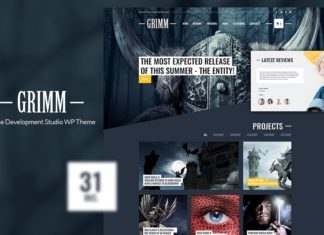 Free Grimm Game Development Studio WP Theme