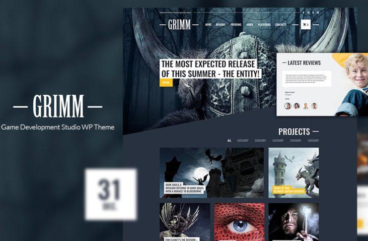 Free Grimm Game Development Studio WP Theme