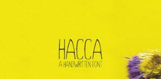 Free Hacca Handwritten Font