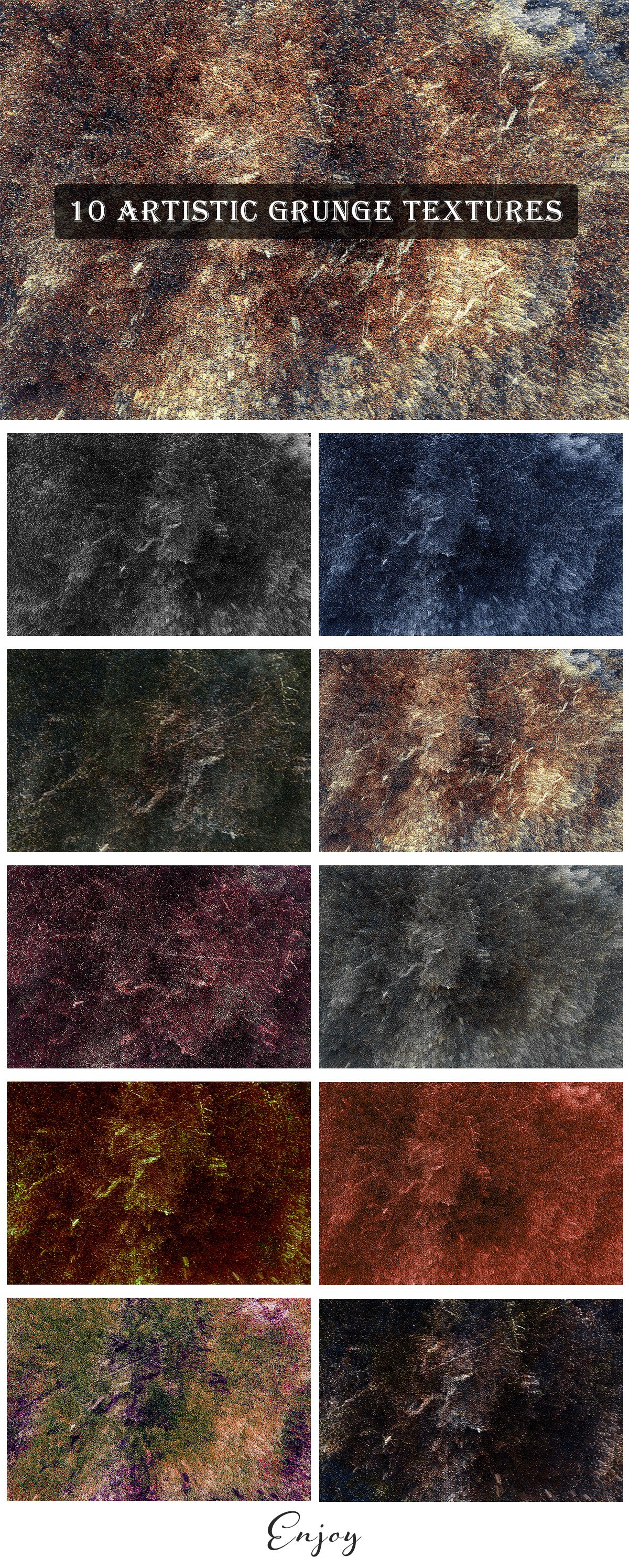 10 Free Creative Artistic Grunge Textures