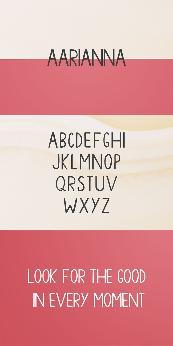 #Free Aarianna #Handmade #Brush Font is a unique, bold handwritten brush font. It is suitable for prints, logos, quotes, badges, labels, headlines, banners, etc.