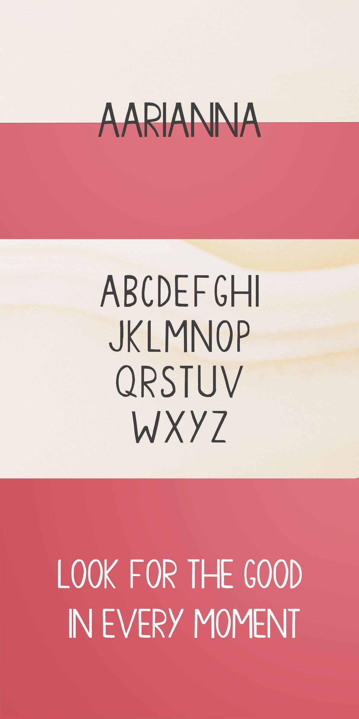 Free Aarianna Handmade Brush Font