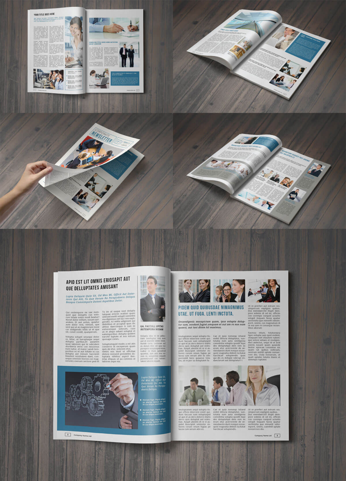 Free A4 Corporate Newsletter Template
