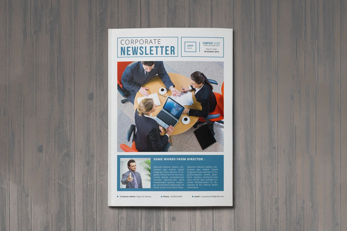 Free A4 Corporate Newsletter Template Creativetacos