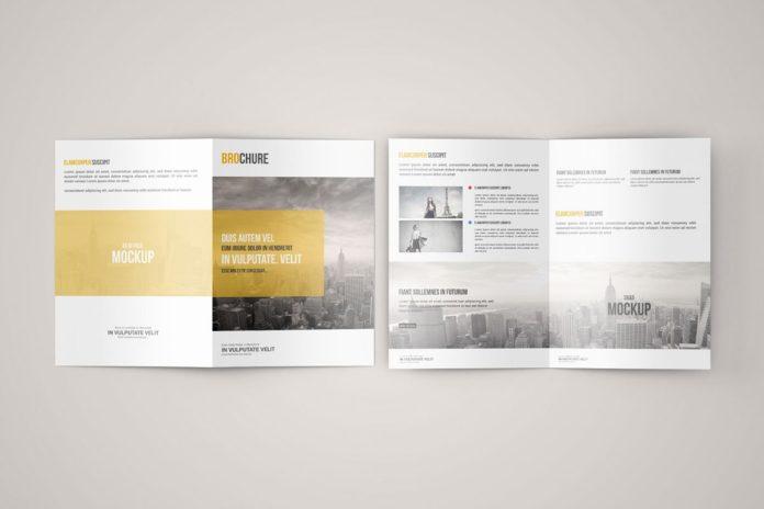 Free A5 Bi Fold Brochure Mockup - Creativetacos