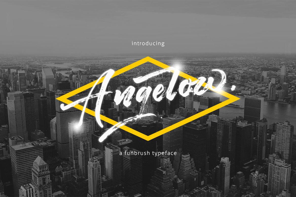 Free Angelow Script Font
