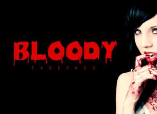 Free Bloody Decorative Font