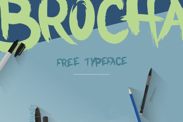 Free Brocha Brush Font