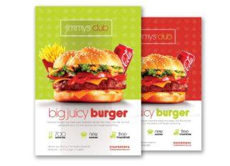 Free Burger Flyer PSD Template
