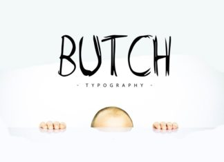 Free Butch Marker Display Font