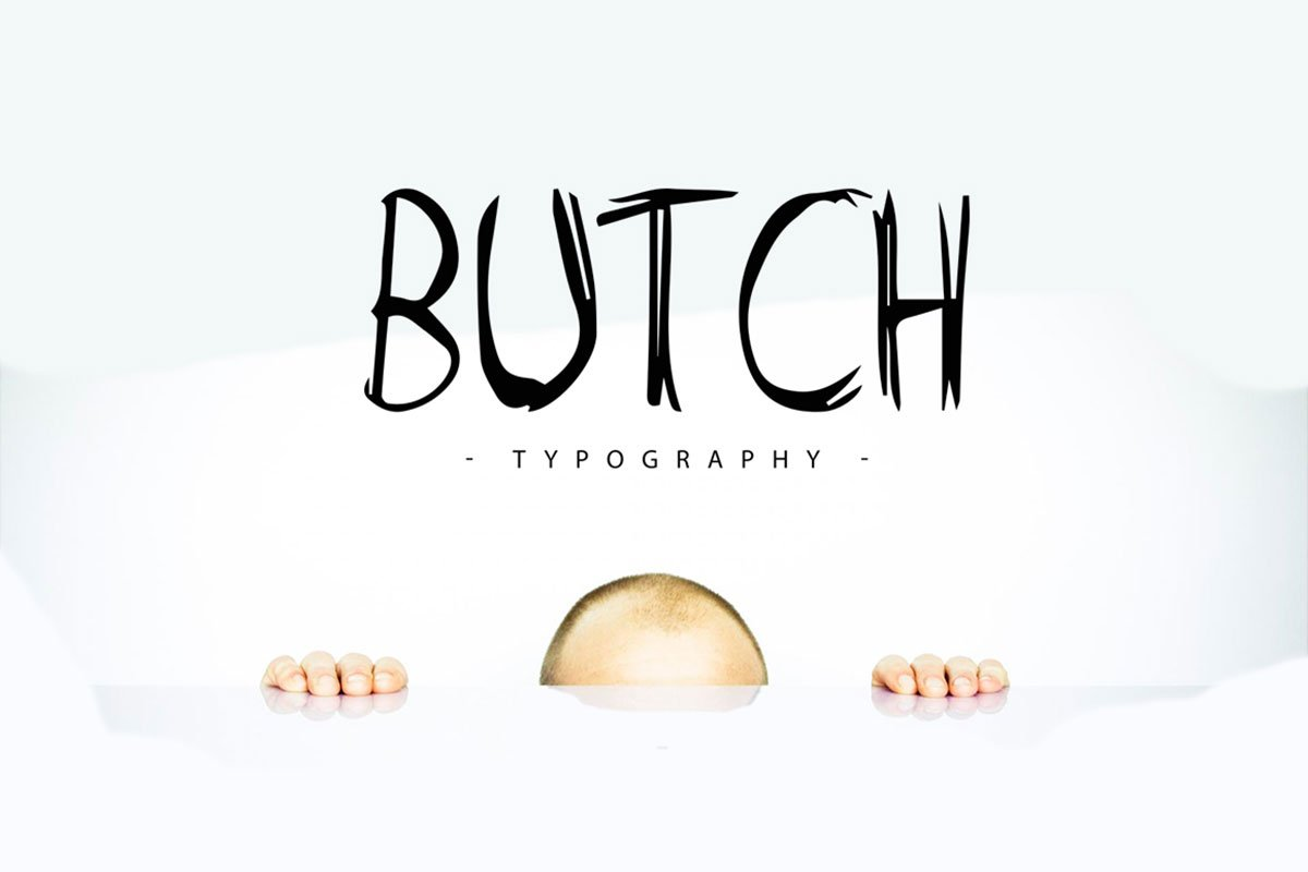 Free Butch Marker Display Font