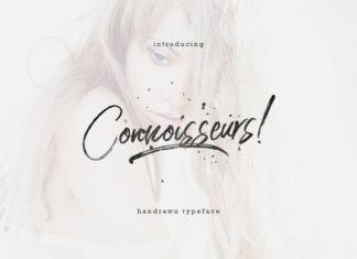 Free Connoisseurs Handbrush Typeface