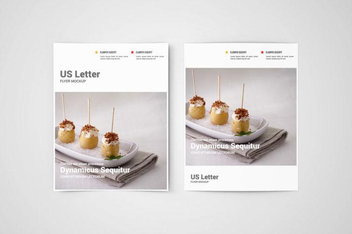 Free Flyer Mockup US Letter