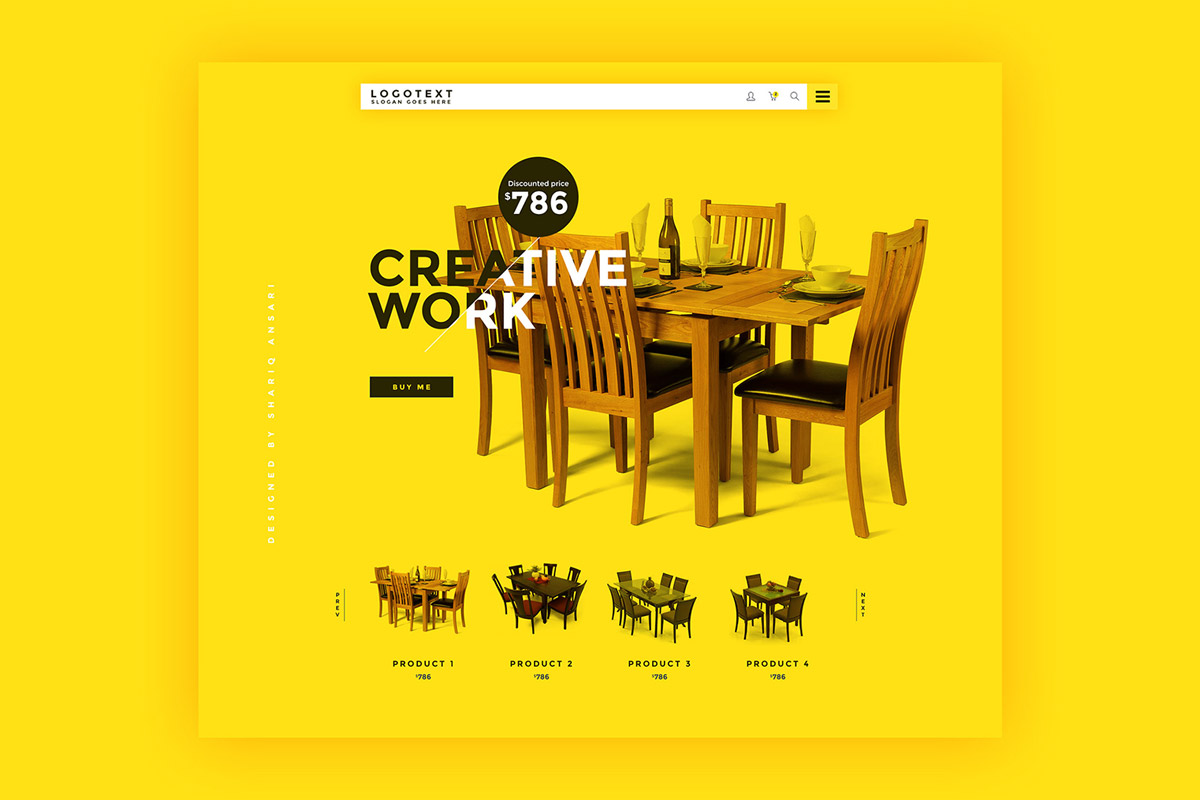 Free Furniture Website Template PSD