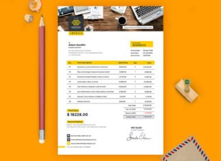 Free Invoice PSD Template