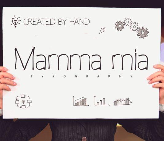 Free Mamma Mia Handwriting Typeface