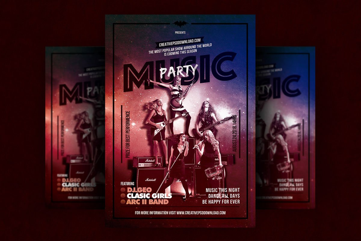 Free Music Party Flyer Psd Template Creativetacos