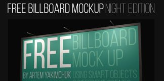 Free Night Billboard Mockups