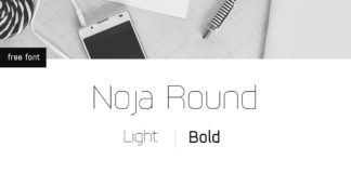 Free Noja Round Sans Serif Font