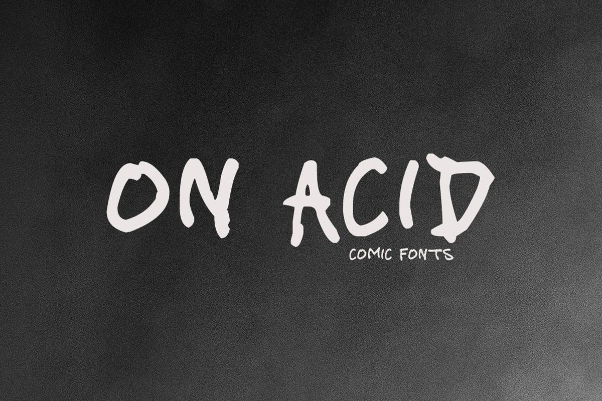 Free On Acid Handmade Font