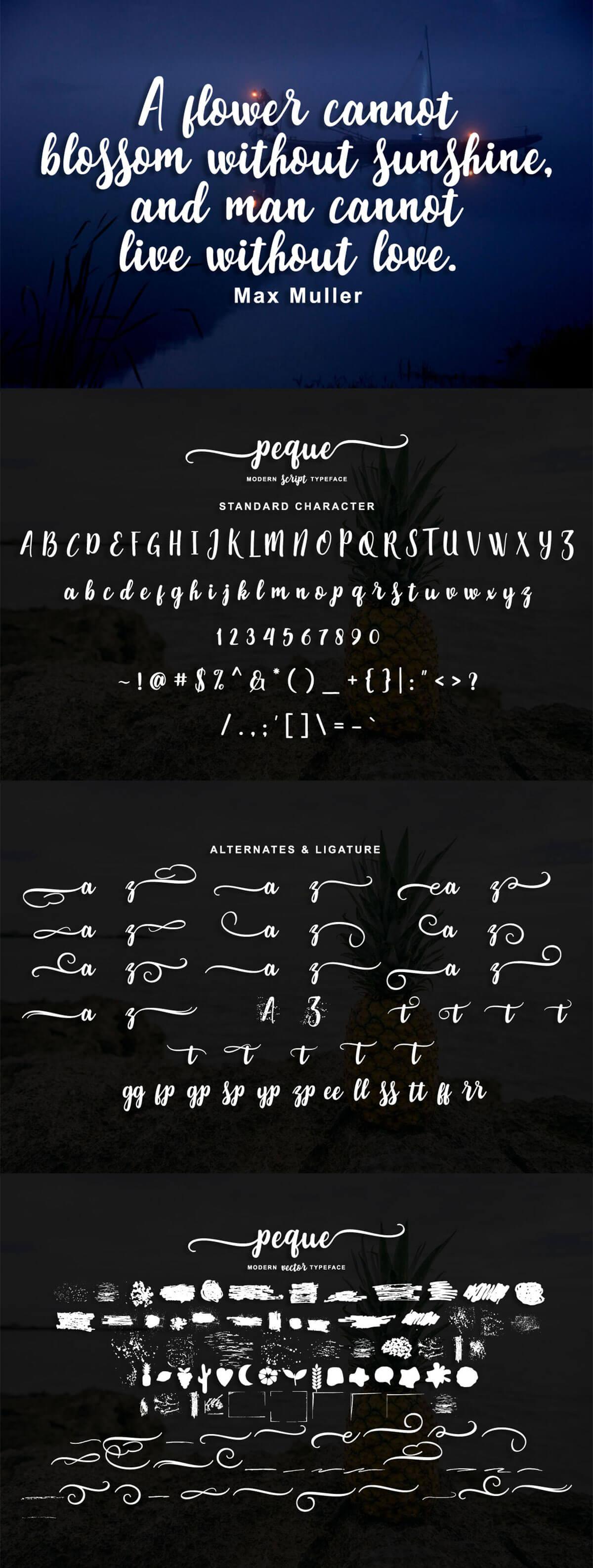 Free Peque Script Font