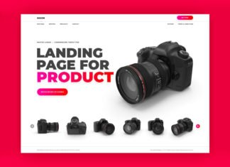 Free Product Landing Page Website PSD