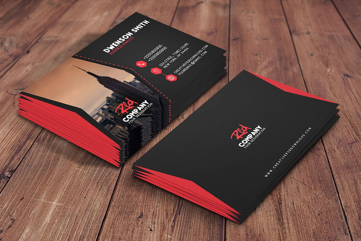 Free professional business card psd template creativetacos free professional business card psd template flashek Images