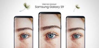 Free Samsung Galaxy S9 Front PSD Mockup