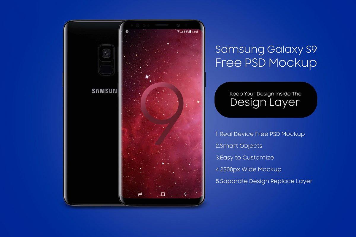 Free Samsung Galaxy S9 PSD Mockup