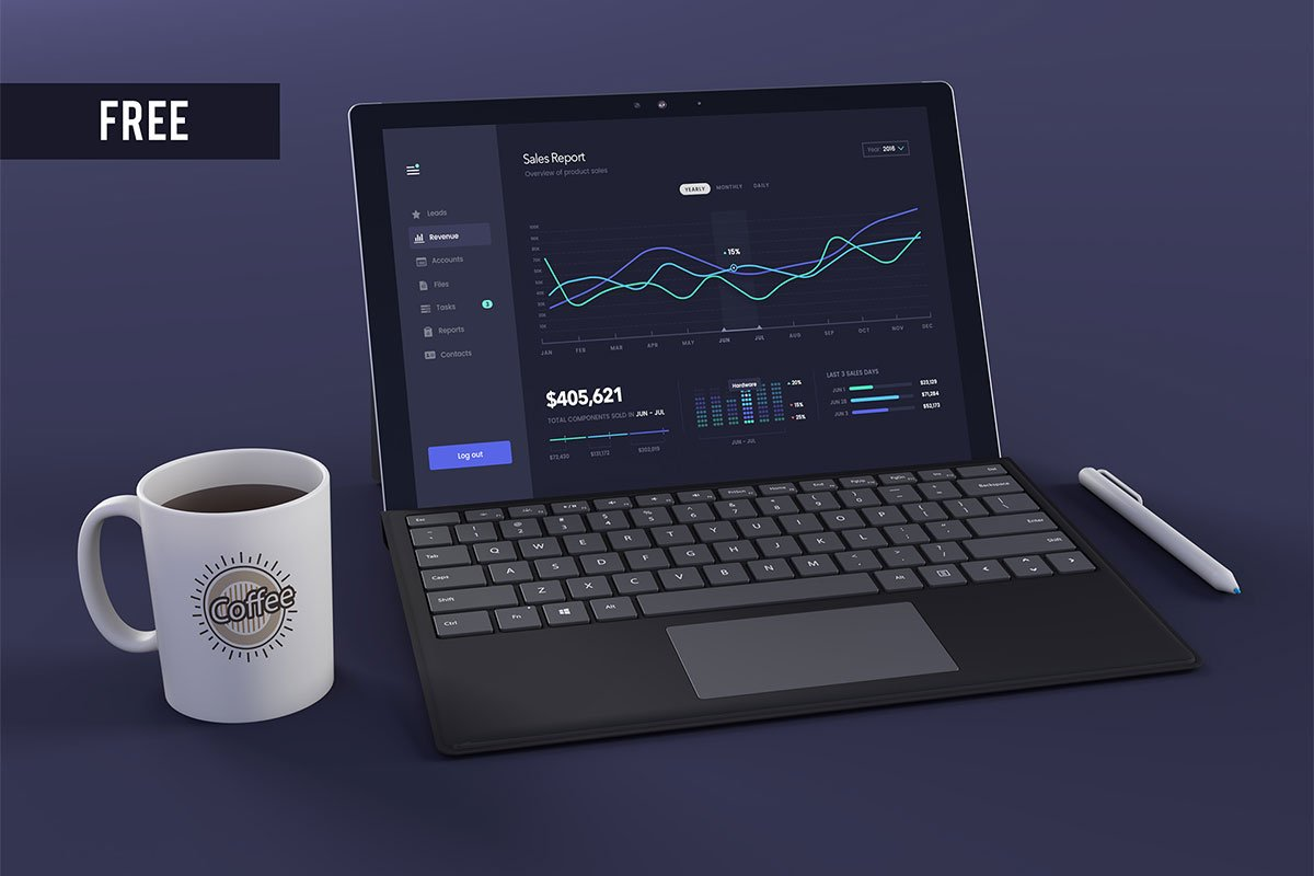 Free Surface Pro Mockup